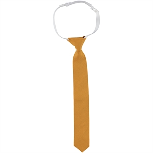 Civil Plain Satin Boy's Tie Mustard The Ages Of 2-8 (1)
