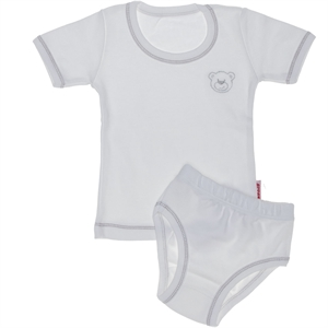 Kujju Team Underwear Combed Cotton White, 12-24 Months