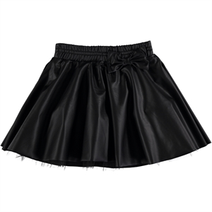 Holi Kids Black Leather Skirt Girl Holi 3-11 Years