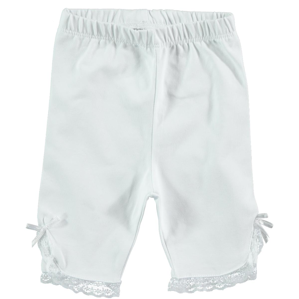 Kujju 6-18 Months Baby Girl White Lace Short Tights