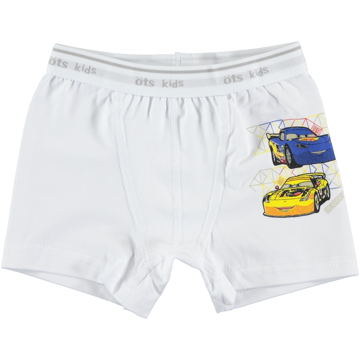 Öts Combed Cotton White Boxer Boy Age 2-12