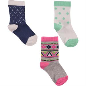 Civil Socks girls 3-navy blue 3-12-hearted