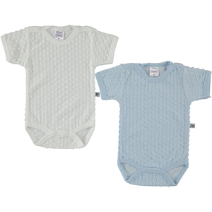 Misket Baby boy 2-0-12 months bodysuit with snaps, blue