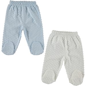 Misket Combed cotton 2-single child oh baby, booty 1-3 months, blue