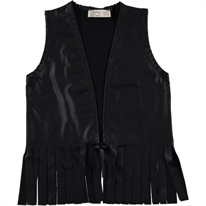 Holi Kids Black Leather Vest Holi 3-11 Years