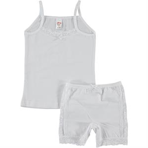 Şahin White Combed Cotton Underwear The Ages Of 2-12 Team