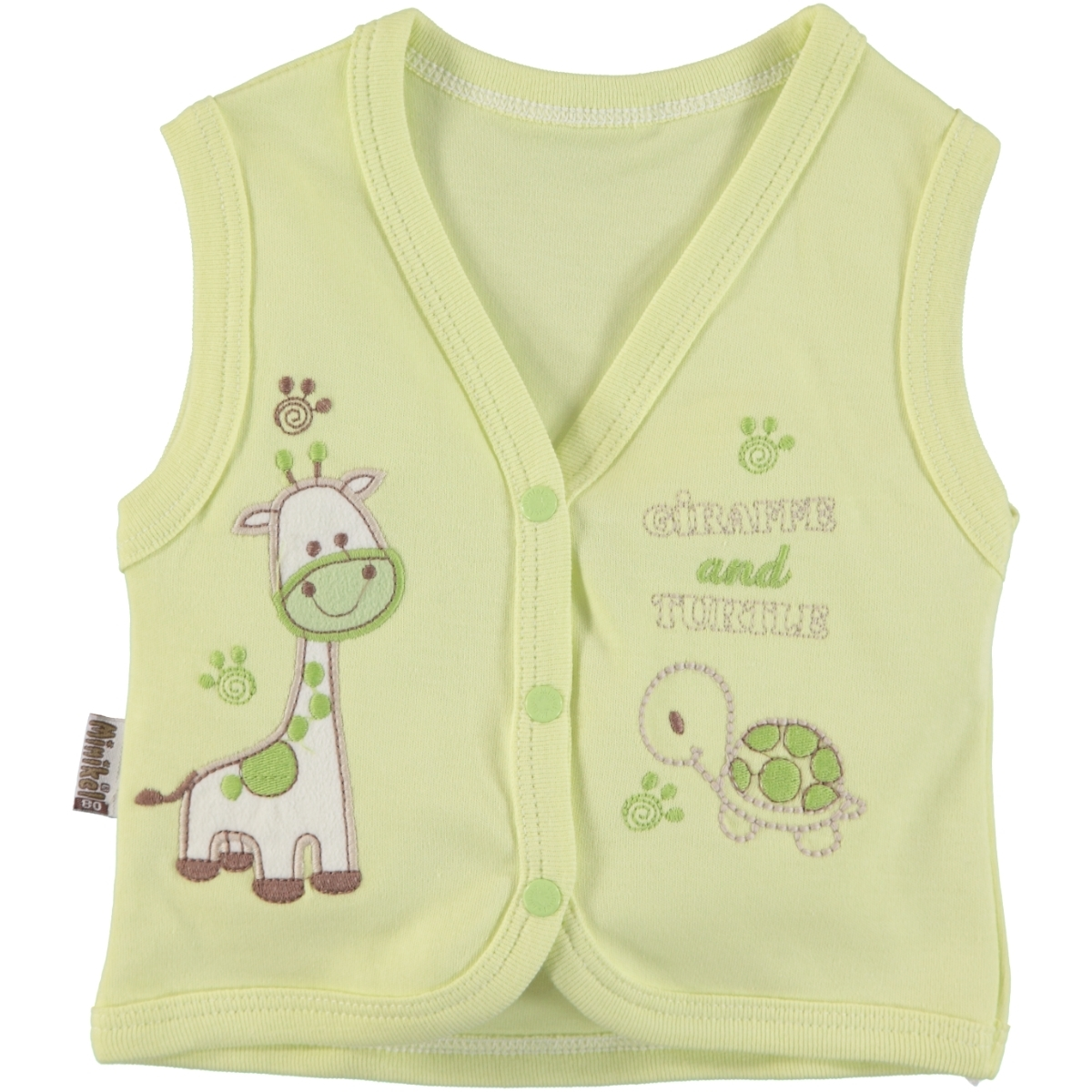Minikel Yesil Combed Cotton Vest 12-24 Months