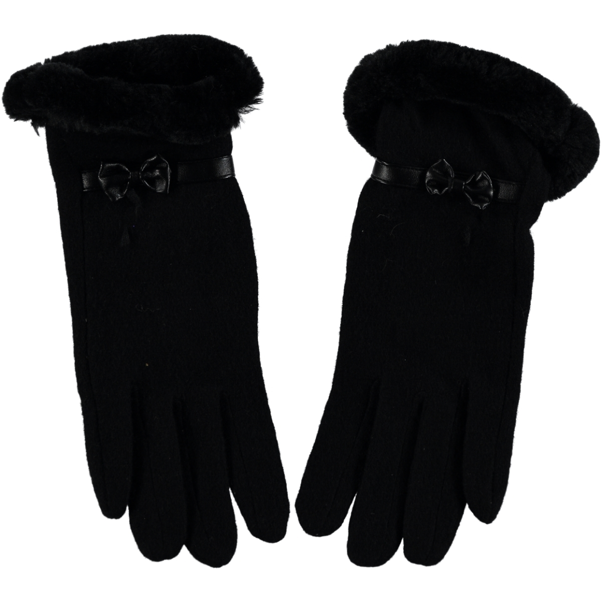 Suyutti Black Wool Gloves Girl Kid Age 12-16