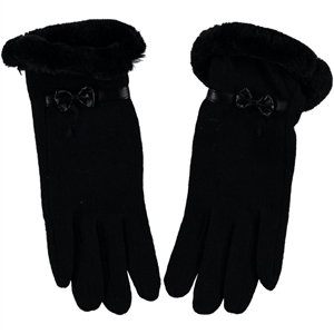 Suyutti Black Wool Gloves Girl Kid Age 12-16 (1)