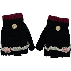 Suyutti Black Kid Gloves Sweater Girl Age 10-13