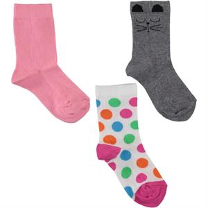Civil 3-way Socket Sock 5-12 years Mixed-Color