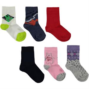 Civil 5-12 years 6 pack ankle socks