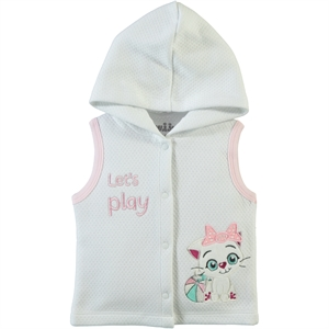 Kujju Quilted Vest Hooded White 6-18 Months