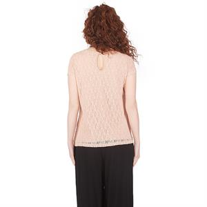 LYN Devon Pregnant Lacy Blouse Powder (2)