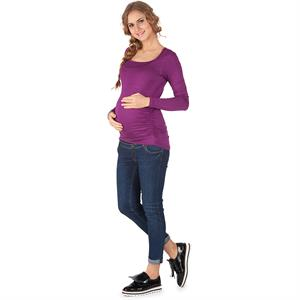 LYN Devon Pregnant Bodysuit Purple