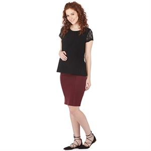 LYN Devon Pregnant Black Lacy Blouse