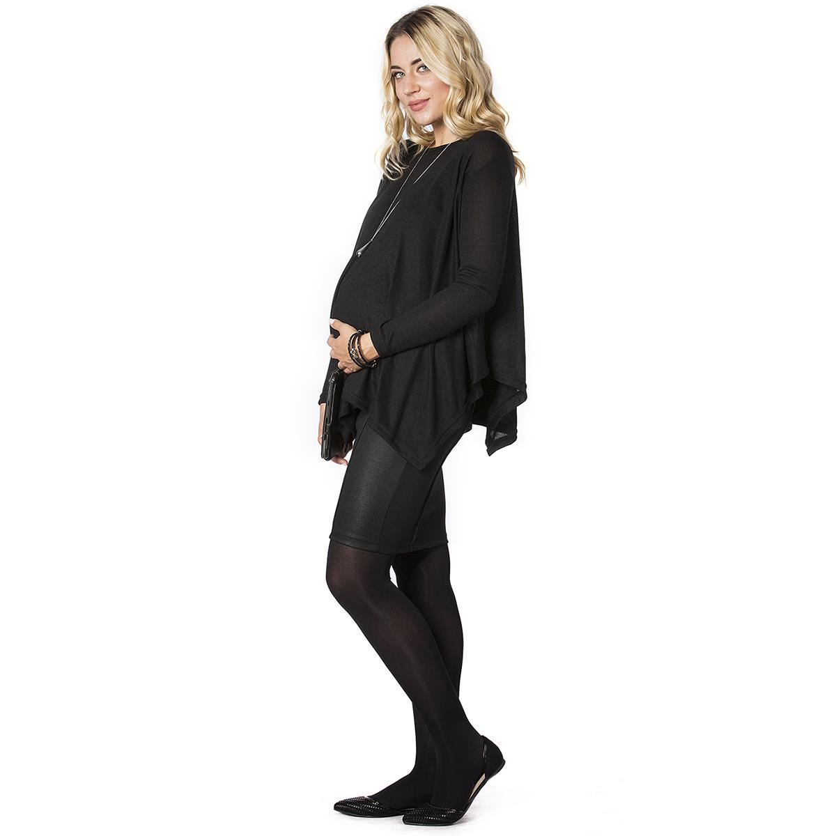 LYN Devon Pregnant Black Pencil Skirt