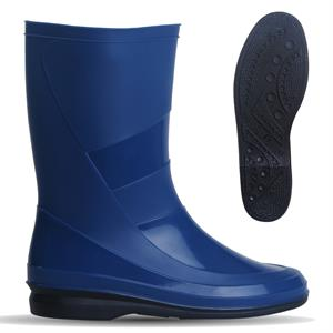 Bhr Design Bambi Black Rain Boots Navy Blue