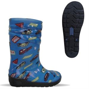 Bhr Design Car Boots It Rain-Patterned Indigo