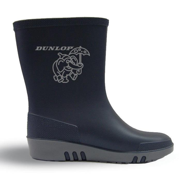 Bhr Design Dunlop Navy Blue Kids Rain Boots