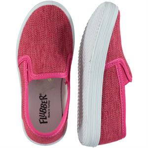 Flubber Fuchsia Linen Shoes 21-25 Number