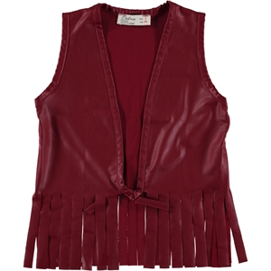 Holi Kids Burgundy Leather Vest Holi 3-11 Years
