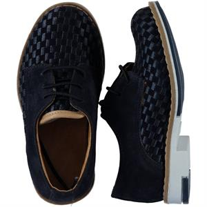 Civil Class Classic Shoes Navy Blue Boy's Number 26-30
