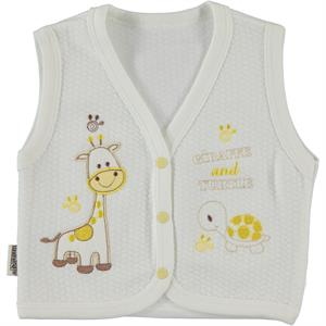 Minikel Yellow Quilted Vest 12-24 Months