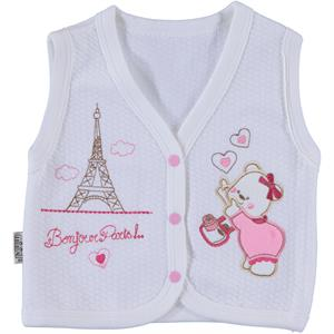 Minikel Quilted Vest White, 12-24 Months