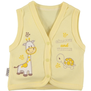 Minikel Combed Cotton Yellow Vest 12-24 Months