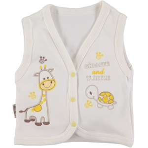 Minikel Combed Cotton Cream Vest 12-24 Months