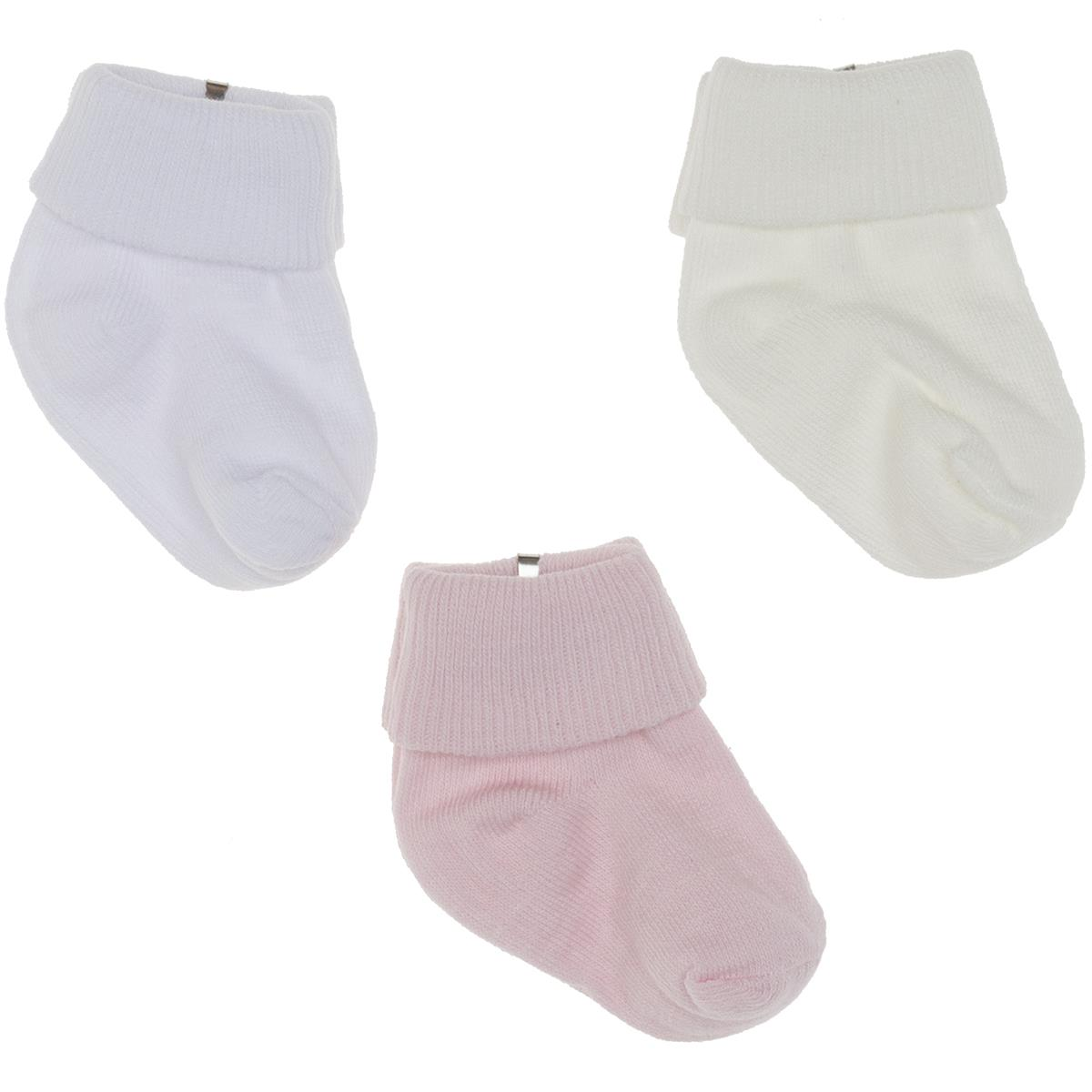 Minidamla 3-Set of socks 0-3 months Pink