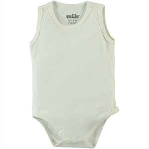 Kujju Combing Ecru Bodysuit With Snaps For 12-24 Months