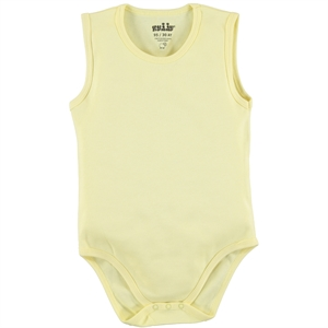 Kujju Combing 12-24 Months Yellow Bodysuit With Snaps
