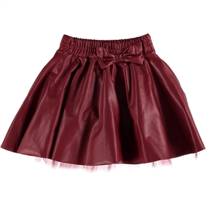 Holi Kids Burgundy Leather Skirt Girl Holi 3-11 Years
