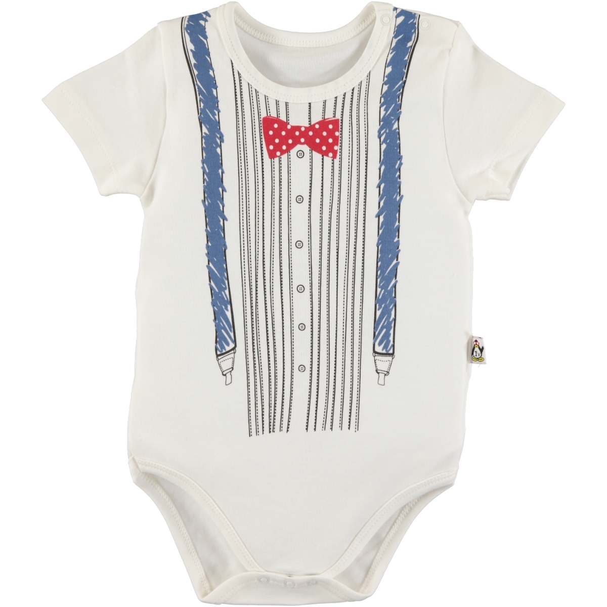 Babycool Combing 1-12 Months Bodysuit With Snaps