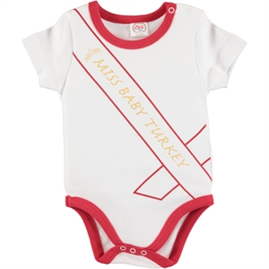 Babycool Combing Red Bodysuit With Snaps 1-3 Years