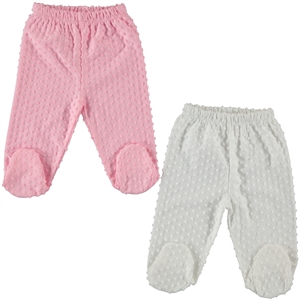 Misket Combed cotton 2-Oh single child baby booty Pink 1-3 months