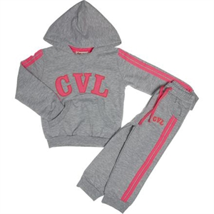Cvl 2-5 Years Pink Hooded Sweat Suit
