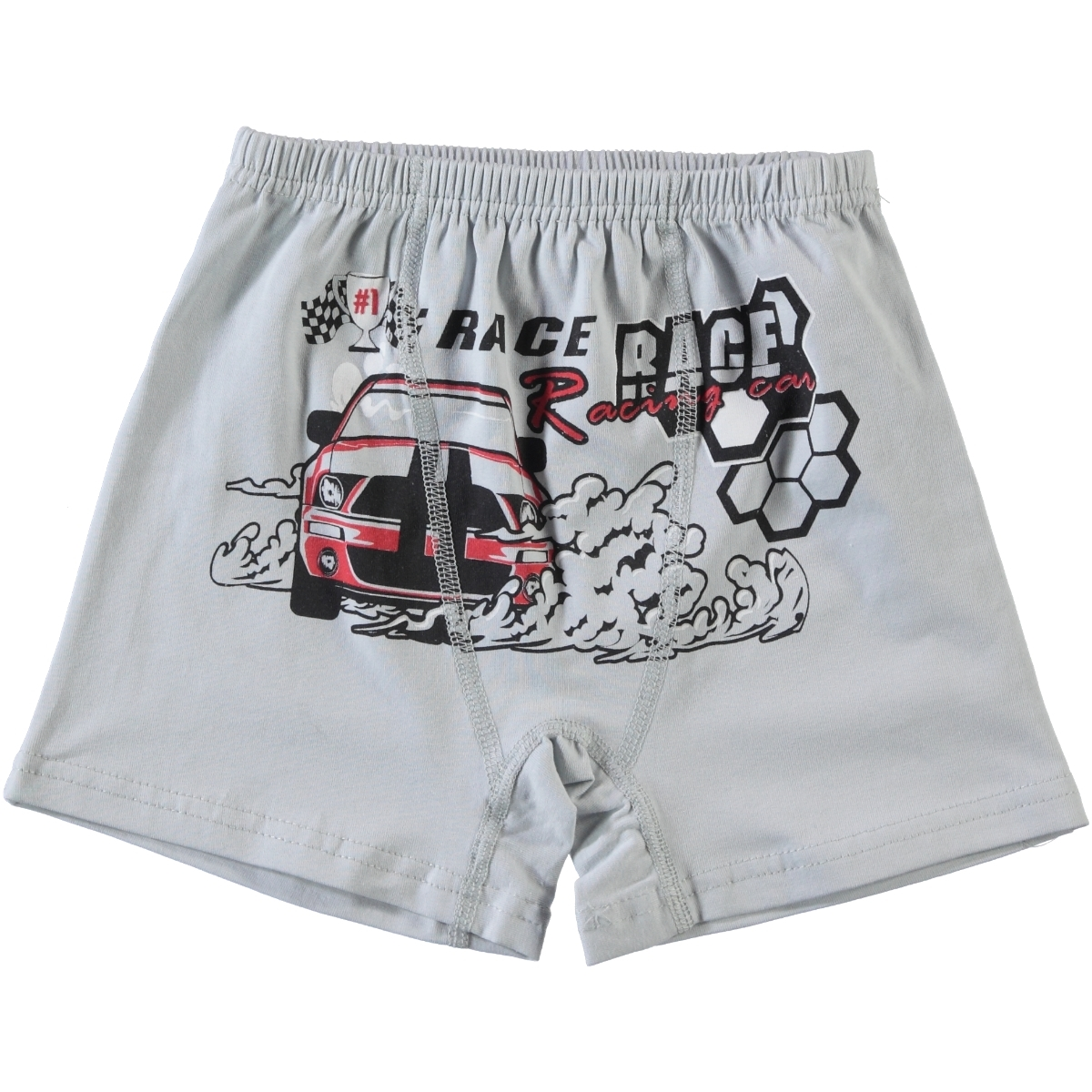 Öts Gray Boxer Combed Cotton Age 2-10