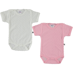 Misket Combing baby girl 2-0-12 months Pink Bodysuit with snaps