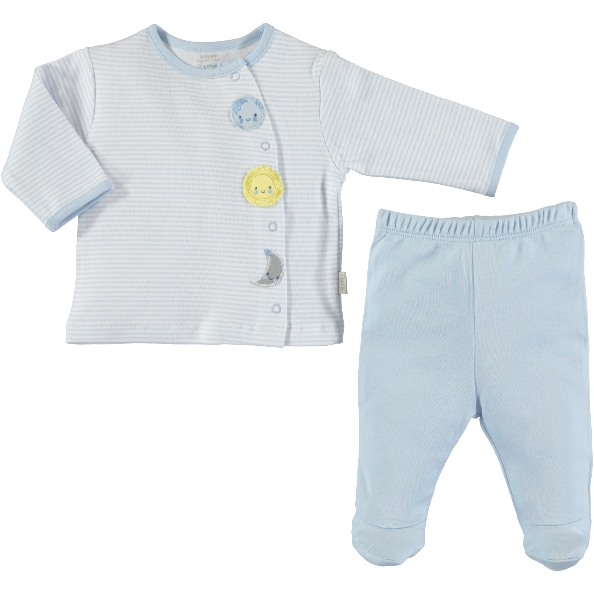 Kiti Kate Organic Combed Cotton Suit 0-9 Months Blue