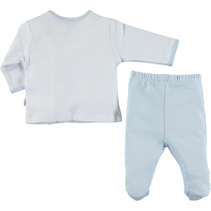 Kiti Kate Organic Combed Cotton Suit 0-9 Months Blue (3)