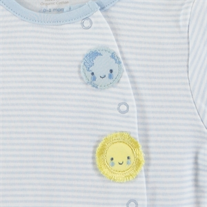 Kiti Kate Organic Combed Cotton Suit 0-9 Months Blue (2)