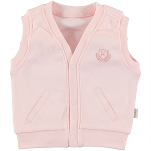 Kiti Kate Combed Cotton Vest Pink, 1-18 Months