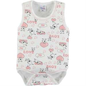Misket Combing Powder 0-12 Months Bodysuit With Snaps