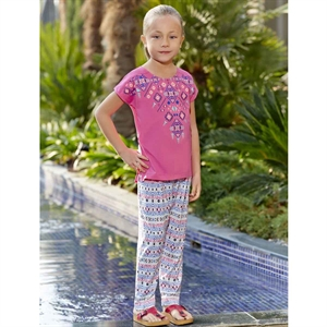 Roly Poly Combed Cotton Pajama Outfit Fuchsia 5-8 Years