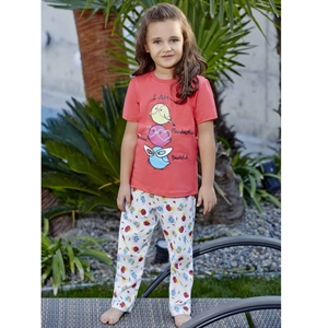 Roly Poly Combed Cotton Pajama Outfit Tongue In Cheek 5-8 Years