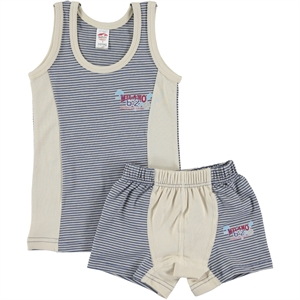 Şahin Boy Combed Cotton Underwear Indigo Team, The Ages Of 1-10