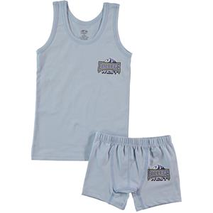 Şahin Boy Combed Cotton Underwear Blue Age Team 1-10